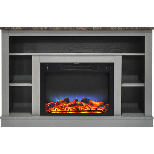 Cambridge 47.2 x15.7 x32.5  Seville Fireplace Mantel with LED Insert