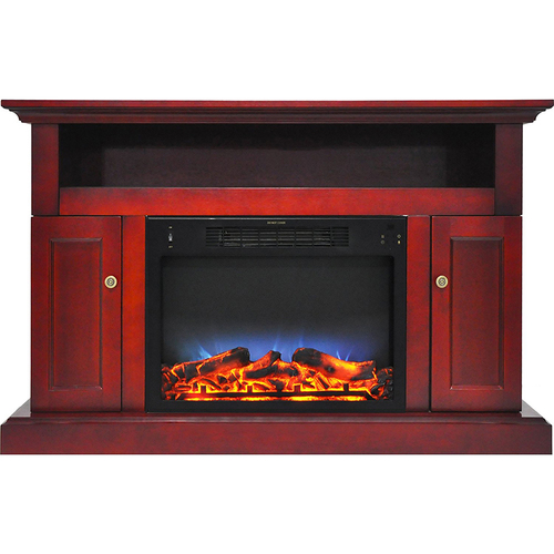 Cambridge 47.2 x15.7 x30.7  Sorrento Fireplace Mantel with LED Insert Cherry