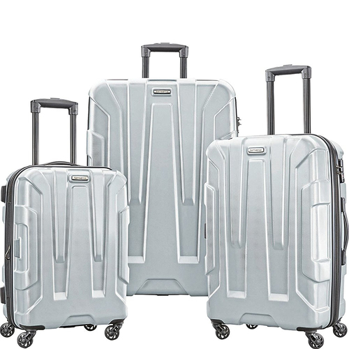Samsonite Centric 3pc Hardside (20/24/28) Luggage Set, Silver