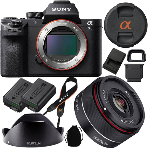 Sony a7S II (Alpha 7S II) Full-frame Mirrorless Camera  w/ Rokinon 35mm f/2.8 FE Lens