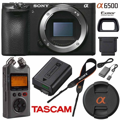 Buydig Sony Ilce 6500 A6500 4k Mirrorless Camera W Tascam Dr