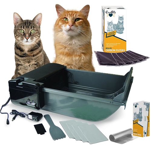 OurPets Smart Scoop Intelligent Bluetooth Litter Box (1400013324) + Filters and Bags Kit