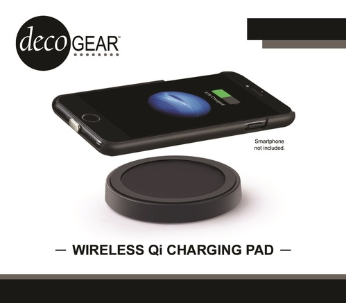 Deco Gear QI Wireless Charging Pad in Matte Black - 5W Output