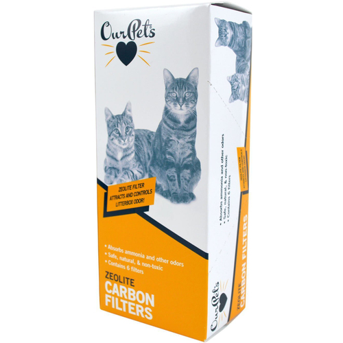 Universal Carbon Cat Litter Box Filters Packs of 6 (1400012737)