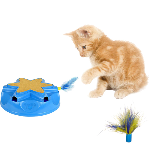 OurPets Catty Whack Interactive Sound and Feather Action Cat Toy w/ Replacement Feathers
