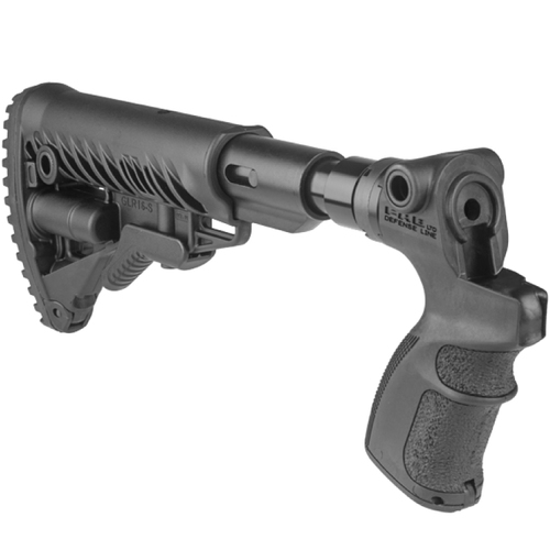 Fab Defense AR15/M4 Collapsible Buttstock w/ Shock Absorber for Mossberg 500 AGM500-FKSB
