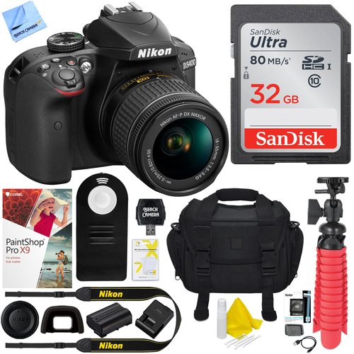 Nikon D3400 24.2 MP DSLR Camera w/ AF-P DX 18-55mm VR Lens + 32GB Kit