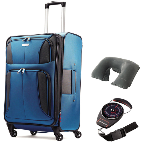 Samsonite Aspire XLite 29` Expandable Spinner Luggage Blue with Traveling Bundle