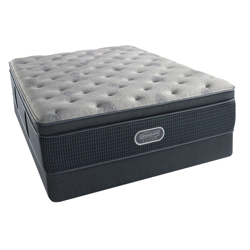 Serta BeautyRest Recharge ~ Silver - Carter Bay Plush SPT Mattress - King