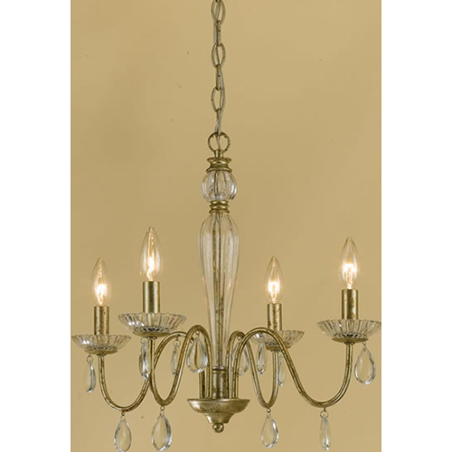 AF Lighting  Elements Judy Mini Chandelier 4-60W Candle Bulbs 18 HX19 W Hardwire Option