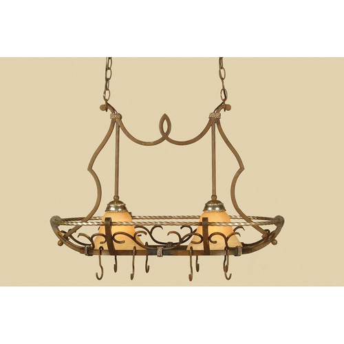 AF Lighting  Elements Wentworth Island Fixture 2-60W Standard Bulbs 23 HX32 D Hardwire Only