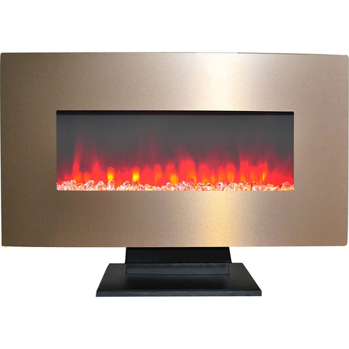 Cambridge 36  Wall Mount and Free Standing Electric Fireplace  w/ logs Bronze