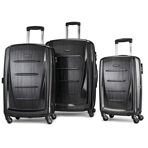 Samsonite Winfield 2 Fashion Hardside 3 Piece Spinner Set - Brushed Anthracite