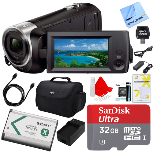 Sony HDR-CX405/B Camcorder Deluxe Bundle