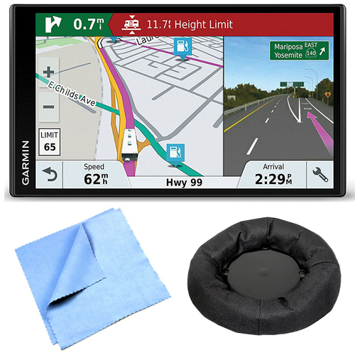 Garmin RV 770 NA LMT-S RV GPS Navigator for Camping Enthusiast Dashboard Mount Bundle