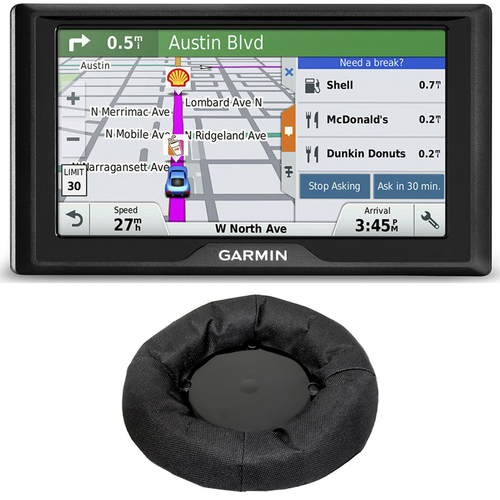 Garmin Drive 50 GPS Navigator (US) 010-01532-0D Dashboard Mount Bundle