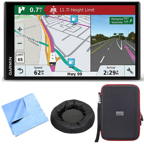 Garmin RV 770 NA LMT-S RV GPS Navigator for Camping w/ Dash Mount + Case Bundle