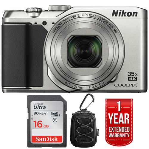 Nikon COOLPIX A900 4K WiFi Digital Camera + Refurbished 16GB Extended Warranty Pack