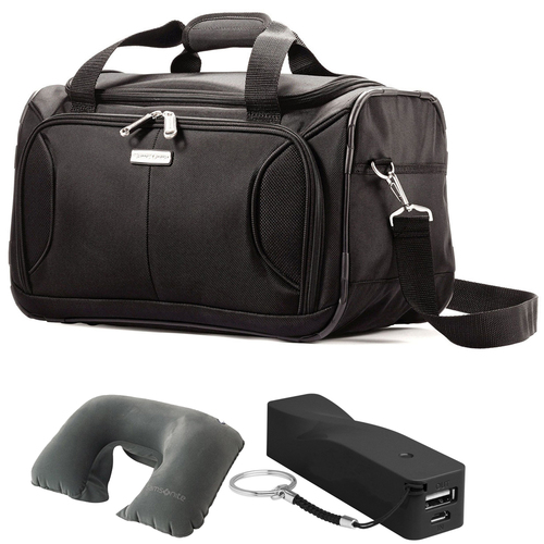 Samsonite Aspire XLite Soft-Sided Boarding Bag (Black) + Deluxe Power Bundle