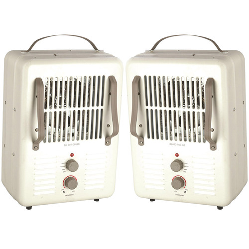 World Marketing 2 Pack Comfort Glow Milkhouse Style Utility Heater 3-prong Grounded Plug EUH352