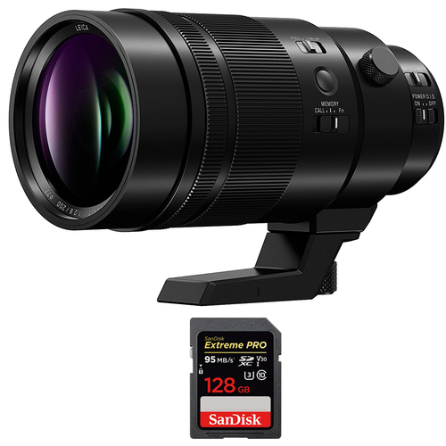 Panasonic E 18-135mm F3.5-5.6 OSS APS-C E-mount Zoom Lens with 128GB Memory Card