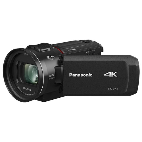 Panasonic HC-VX1K 4K Ultra HD 24x Optical Zoom Camcorder with 25mm Wide Leica Lens