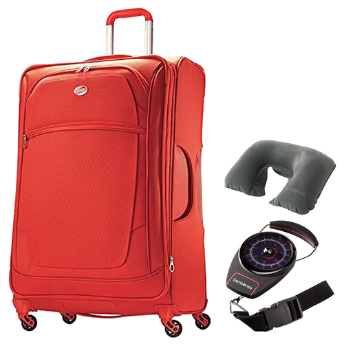 American Tourister iLite Xtreme Spinner 29 - Orange w/ Travel Bundle