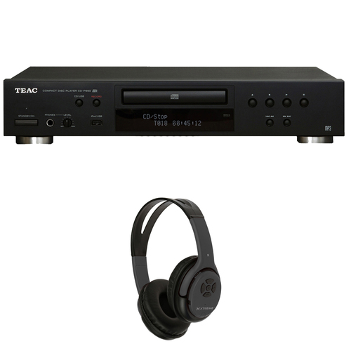 Teac CD-P650-B CD Player with USB + iPod Interface w/ Xtreme Bluetooth Headphones