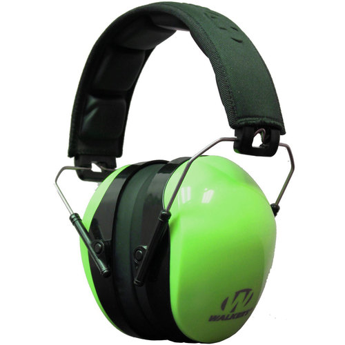 Walkers Dual Color Passive Ear Muff Hearing Protection - Hi-Vis Green