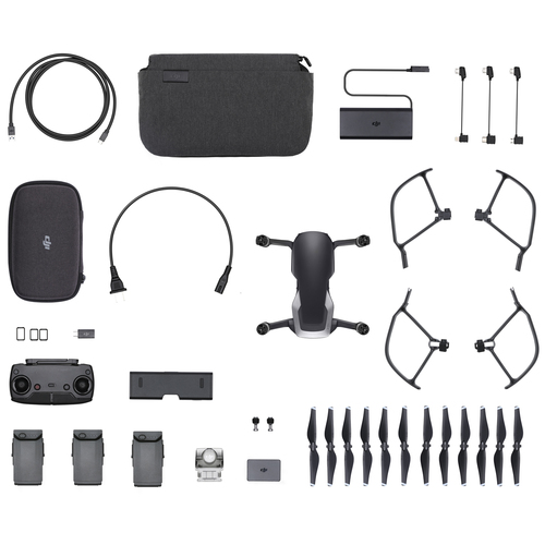 DJI Mavic Air Quadcopter Drone - Onyx Black Fly More Combo