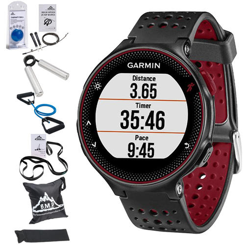 Garmin Forerunner 235 GPS Sport Watch w/Wrist-Based HRM Marsala+7Pcs Fitness Kit