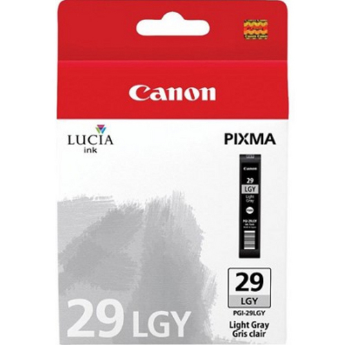 Canon PGI-29 LGY - LUCIA Series Light Gray Ink Cartridge for Canon PIXMA PRO-1 Printer