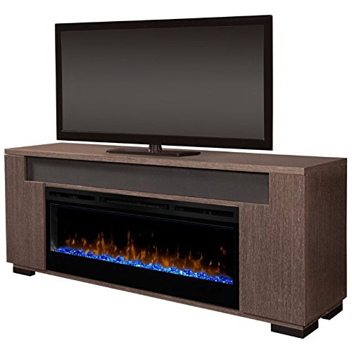 Dimplex Electric Fireplace - Haley (with glass ember bed) Rift Grey