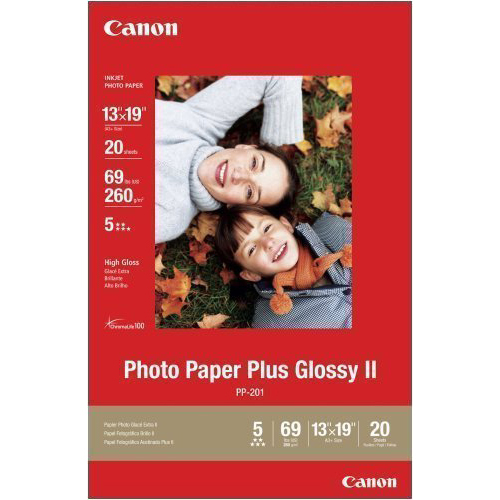 Canon Glossy II 13 x 19in Photo Paper Plus 20 Sheets