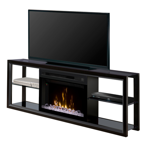 Dimplex Electric Fireplace - Novara (with glass ember bed) Black