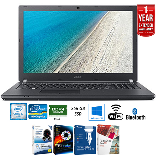 Acer Travelmate P459 15.6` Intel Core i7-6500U 8GB Laptop + Extended Warranty Pack