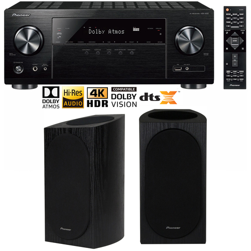 Pioneer VSX-832 5.1 Channel AV Network Receiver 4K Ultra HD Wi-Fi w/ Speaker Pair Bundle