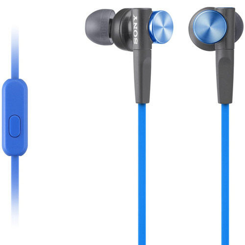 XB50AP Extra Bass In Ear Earbud Headphones with Microphone - MDRXB50AP/L (Blue)
