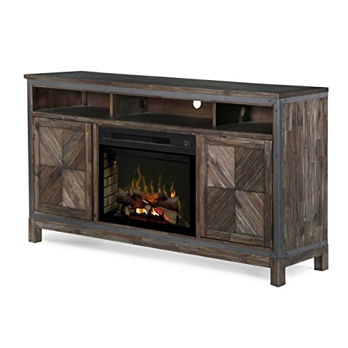 Dimplex Wyatt 25` Electric Fireplace TV Stand in Barley Brown
