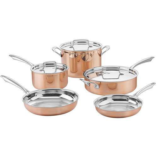 Copper CTPP-8 Collection Cookware Set, Medium, Copper