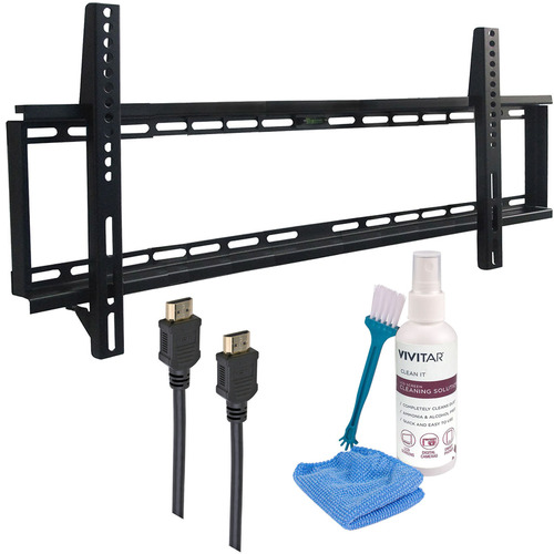General 37-70` Low Profile Wall Mount Kit - Includes 2 HDMI Cables & Screen Cleaning Kit