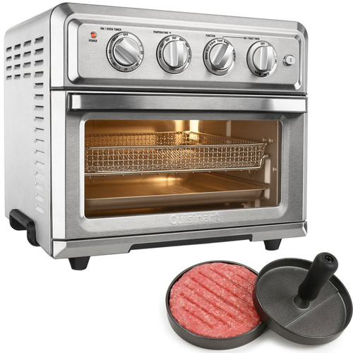 how to cook burgers in toaster oven
