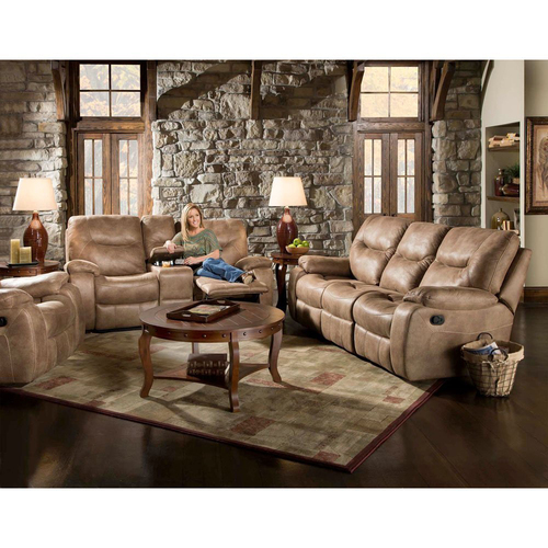 Cambridge Homestead Double Reclining Sofa in Sand - 98505DRS-SN