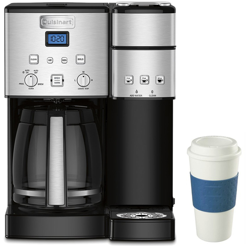 Cuisinart 12-Cup Coffee Maker and Single-Serve Brewer (SS-15) w/16 Oz Reusable Mug Blue