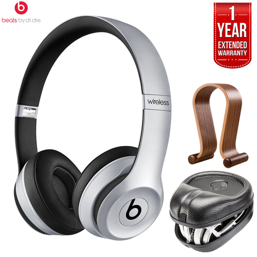 Beats By Dre Solo2 Wireless On-Ear Headphones (Certified Refurbished) +Extended Warranty Pack