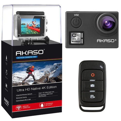 Akaso V50 Action Camera-Native 4K/30fps 20 MP with Wifi
