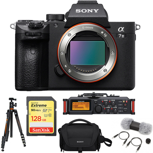 Sony a7III F.Frame Mirrorless Interchangeable Lens Camera Body + Recorder Bundle