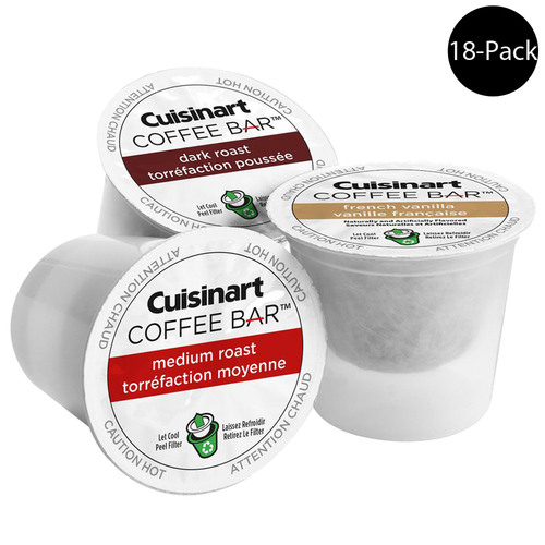 Cuisinart Coffee Bar K Cup Single Serve Capsules 18 Count (For All K-Cup Machines)