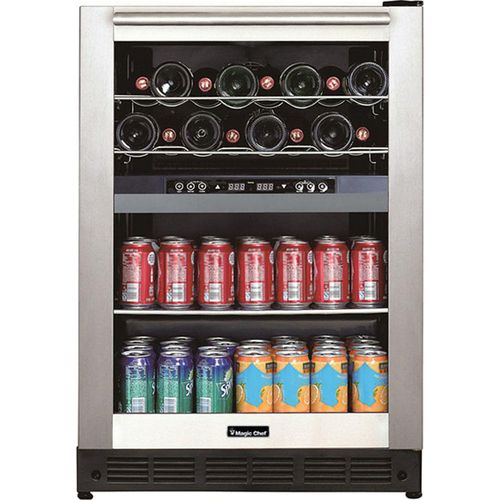 Magic Chef Dual Zone Built-In Wine and Beverage Cooler