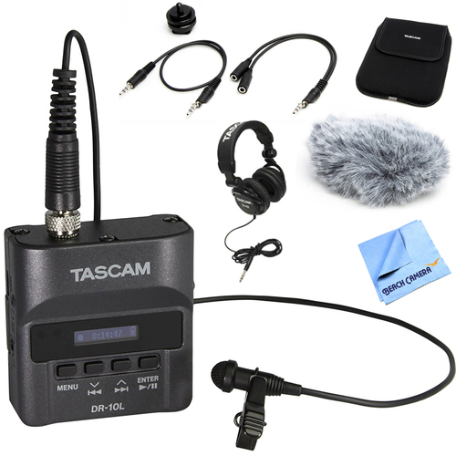 Tascam Portable Digital Studio Recorder w/ Microphone with Accessory Bundle